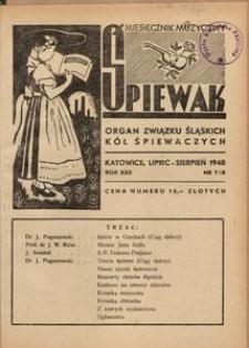 Śpiewak, 1948, R. 22, nr 7/8