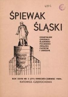 Śpiewak Śląski, 1989, R. 28, nr 2