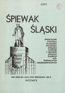 Śpiewak Śląski, 1989, R. 28, nr 3