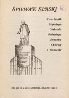Śpiewak Śląski, 1991, R. 30, nr 4