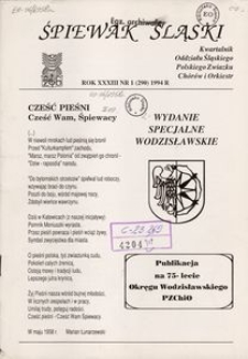 Śpiewak Śląski, 1994, R. 33, nr 1. - Wyd. spec. wodzisławskie