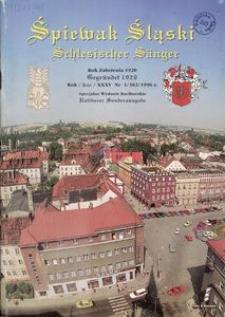 Śpiewak Śląski, 1996, R. 35, nr 1. - Wyd. spec. raciborskie