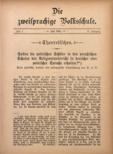Die Zweisprachige Volksschule, 1894, Jg. 2, H. 7