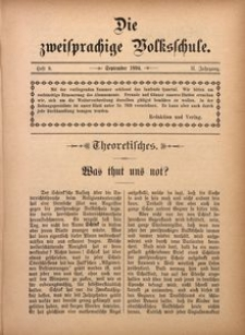 Die Zweisprachige Volksschule, 1894, Jg. 2, H. 9