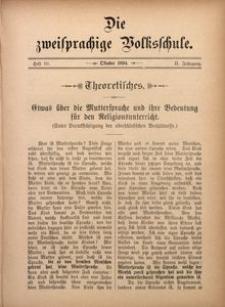 Die Zweisprachige Volksschule, 1894, Jg. 2, H. 10