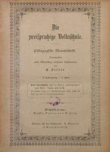 Die Zweisprachige Volksschule, 1895, Jg. 3, Inhalt