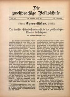 Die Zweisprachige Volksschule, 1895, Jg. 3, H. 10