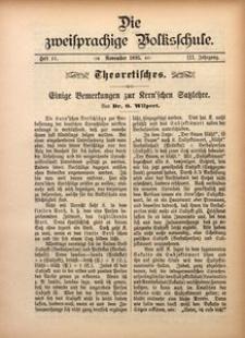 Die Zweisprachige Volksschule, 1895, Jg. 3, H. 11