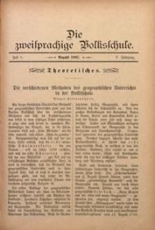 Die Zweisprachige Volksschule, 1897, Jg. 5, H. 8