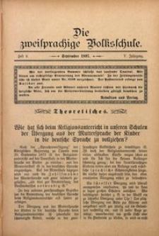 Die Zweisprachige Volksschule, 1897, Jg. 5, H. 9