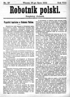 Robotnik Polski, 1912, R. 8, nr 27