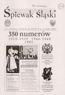 Śpiewak Śląski, 2004, R. 43, nr 1