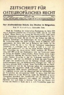 Zeitschrift für osteuropäisches Rech. Im Auftrage des Osteuropa-Instituts in Breslau, 1936, Jg. 3, H. 3