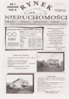 Rynek Nieruchomości, 1996, nr 7