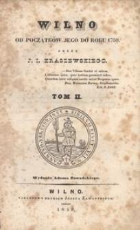 Wilno. Od początków jego do roku 1750.Tom II.