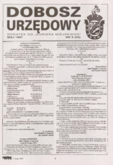 Dobosz Urzędowy, 1997, nr 5 (33)