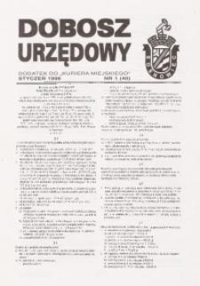 Dobosz Urzędowy, 1998, nr 1 (40)