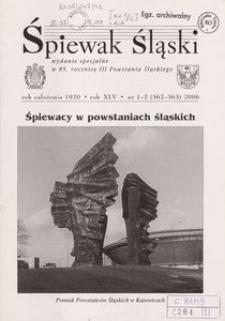 Śpiewak Śląski, 2006, R. 45, nr 1/2