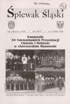 Śpiewak Śląski, 2007, R. 46, nr 2