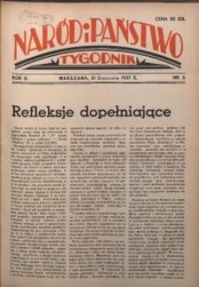 Naród i Państwo, 1937, R. 2, nr 5