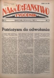Naród i Państwo, 1937, R. 2, nr 17