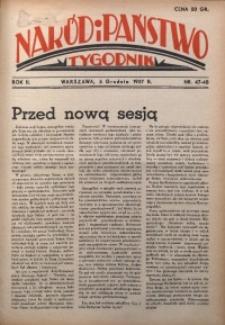 Naród i Państwo, 1937, R. 2, nr 47/48