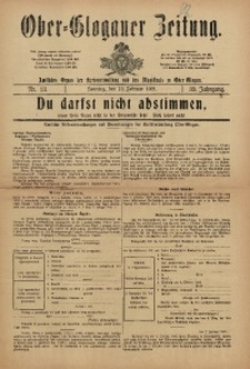 Ober-Glogauer Zeitung, 1921, Jg. 33, Nr. 13
