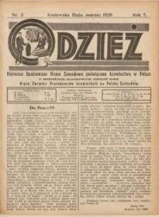 Odzież, 1928, R. 7, Nr. 3