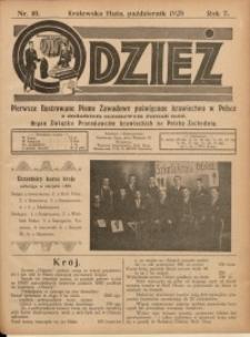 Odzież, 1928, R. 7, Nr. 10