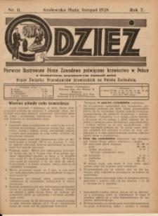Odzież, 1928, R. 7, Nr. 11