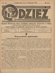 Odzież, 1929, R. 8, Nr. 11