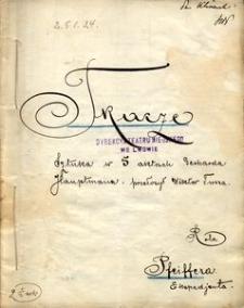 Gerhard Hauptmann, Tkacze. Sztuka w 5 aktach przełożył z upoważnienia autora Wiktor Tusza. Role teatralne