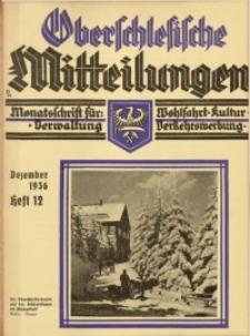 Oberschlesische Mitteilungen, 1936, Jg. 2, H. 12