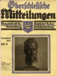 Oberschlesische Mitteilungen, 1937, Jg. 3, H. 11