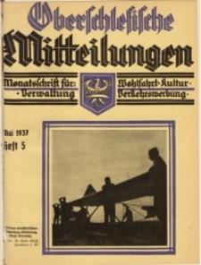 Oberschlesische Mitteilungen, 1937, Jg. 3, H. 5