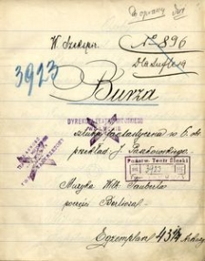 W. Szekspir : Burza. Sztuka fantastyczna w 6. obr. przekład: J. Paszkowskiego. Muzyka: Wilh: Tauberta po części Berlioza. 10 X 1911