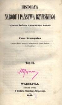 Historya narodu i państwa rzymskiego podług źródeł i nowszych badań. T. 3