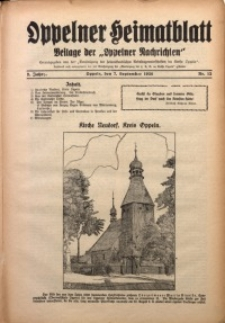 Oppelner Heimatblatt, 1926/1927, Jg. 2, Nr. 12