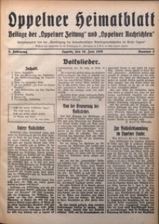 Oppelner Heimatblatt, 1929/1930, Jg. 5, Nr. 3
