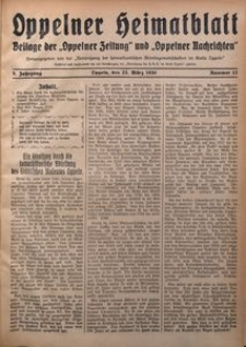 Oppelner Heimatblatt, 1929/1930, Jg. 5, Nr. 12