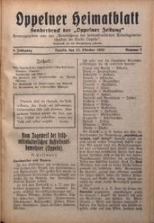 Oppelner Heimatblatt, 1932/1933, Jg. 8, Nr. 7