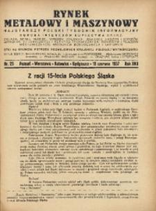 Rynek Metalowy i Maszynowy, 1937, R. 17, Nr. 25