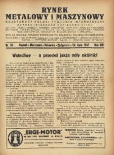 Rynek Metalowy i Maszynowy, 1937, R. 17, Nr. 30