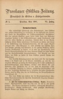 Proskauer Obstbau-Zeitung, 1901, Jg. 6, No. 5