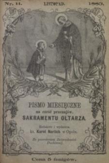 Pismo Miesięczne na cześć Przenajświętszego Sakramentu Ołtarza, 1883, nr 11