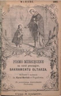 Pismo Miesięczne na cześć Przenajświętszego Sakramentu Ołtarza, 1887, nr 3