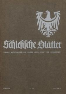 Schlesische Blätter für Volkskunde, 1940, Jg. 2, Nr. 4