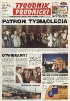 Tygodnik Prudnicki : gazeta powiatowa : Prudnik, Biała, Głogówek, Lubrza. R. 13, nr 1 (579).