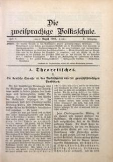 Die Zweisprachige Volksschule, 1902, Jg. 10, H. 8