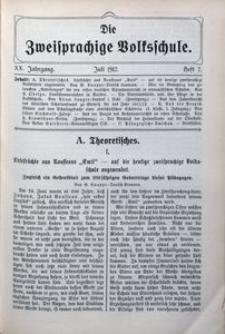 Die Zweisprachige Volksschule, 1912, Jg. 20, H. 7